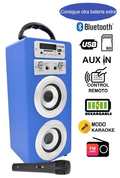 altavoz karaoke dynasonic con batería